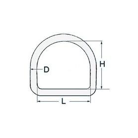 Half-Ring Ø6 X 50
