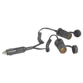 Extension Cable Cigarette Lighter Socket Double