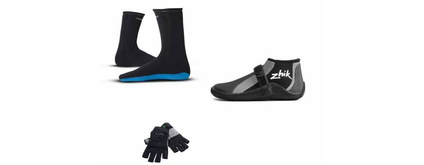 Gloves, boots and shoes