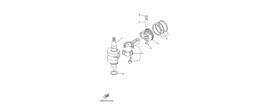 Albero motore e pistone