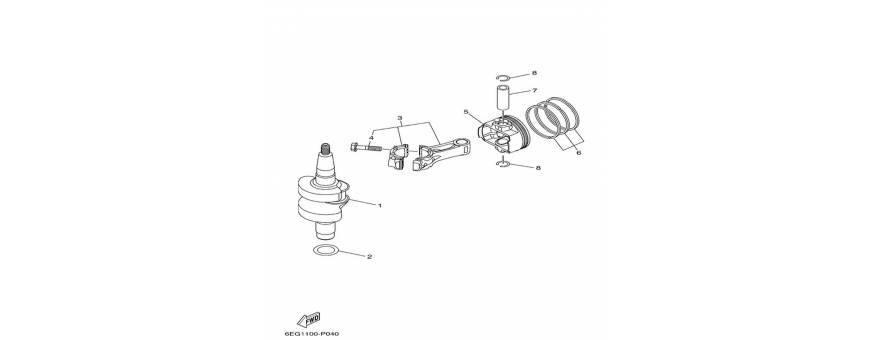 Albero motore e pistone F2.5B