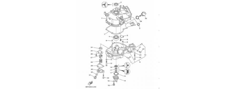Cilindro e carter F4B-F5A-F6C
