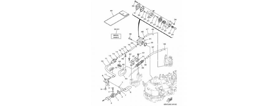 Corpo pompa benzina F4B-F5A-F6C
