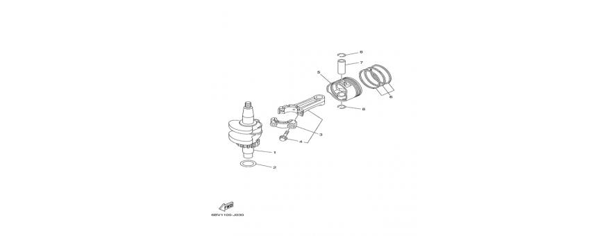 Albero motore e pistone F4B-F5A-F6C
