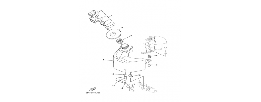 Serbatoio benzina interno F4B-F5A-F6C