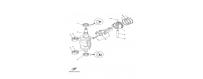 Albero motore e cilindro F6A-F6B-F8C