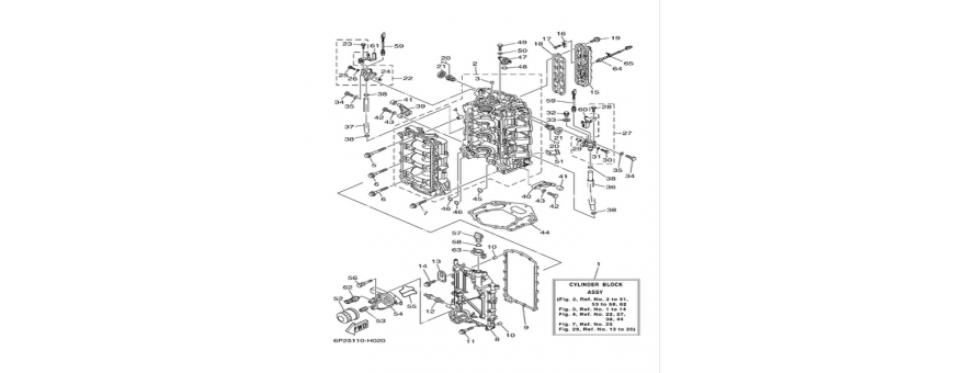 Cilindro e carter 1 F250A-FL250A
