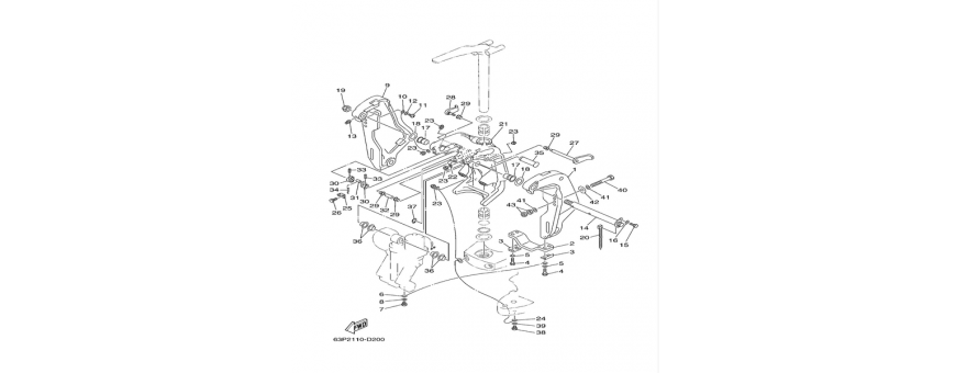 Supporto motore F150A-FL150A