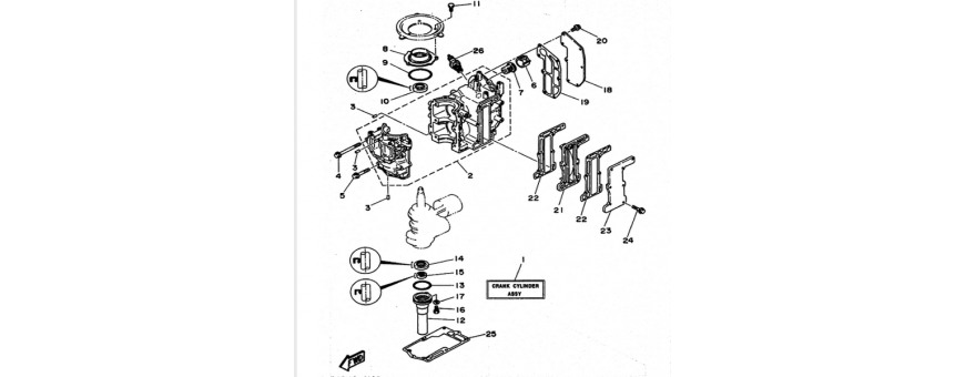 Cilindro e carter 6C-6D-8C
