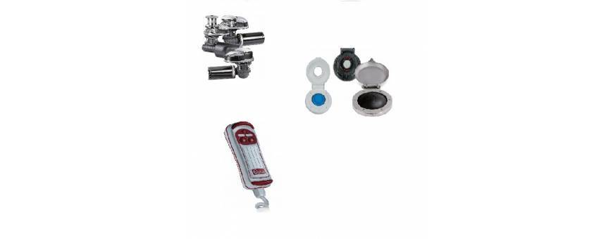 Anchor windlass, winches and accessories for boat